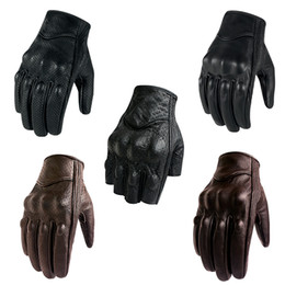 green moto gloves NZ - Motorcycle Gloves Leather Touch Screen For Men For Women Moto Glove Electric Bike Luvas da motocicleta Os carros eletricos Sale T191108