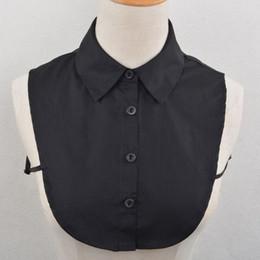 Discount false clothing - Unisex Adult Detachable Lapel Shirt Fake Collar Solid Color False Blouse Ties Fashion Vintage Neckwear Clothing Accessor