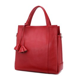 sex bags Australia - Pop2019 Woman Leather Genuine Baotou Layer Cowhide Soft Will Capacity Litchi Grain Handbag Single Shoulder Package Diagonal Female Sex Bag