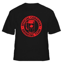 Lowest Price T Shirt Australia - Official Canadian Drinking Team Funny Beer Men T-Shirt Lowest Price 100 % Cotton