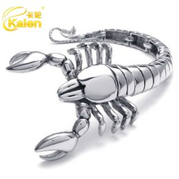 $enCountryForm.capitalKeyWord Australia - Card wheel jewelry Personality scorpion animal polished titanium steel bracelet Creative characteristics fashion foreign trade jewelry