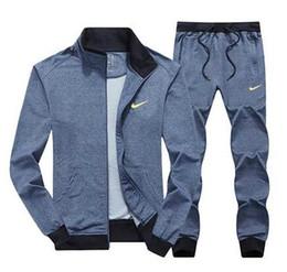 Toptan satış Tasarımcı AD Erkekler Setleri Kapüşonlu Eşofman Parça Ter Üç Çizgili Suits Erkek Eşofman Erkek Spor Takım Elbise Erkek Giyim
