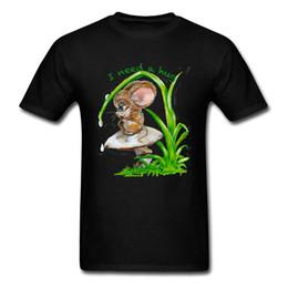 $enCountryForm.capitalKeyWord UK - Black T Shirt For Man Hug Need Tshirt Lonely Mouse Print T-shirts Summer Kawaii Tops Tees Custom Adult Clothes Cotton Fabric