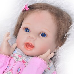 original toys for babies Canada - Reborn dolls for girls 22inch 55cm silicone reborn baby dolls bebe original reborn menina bonecas play house toys gift