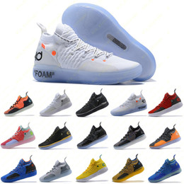 Silver lace fabricS online shopping - Mens Trainers New KD EP White Orange Foam Pink Paranoid Oreo ICE Basketball Shoes Original Kevin Durant XI KD11 Sneakers Size