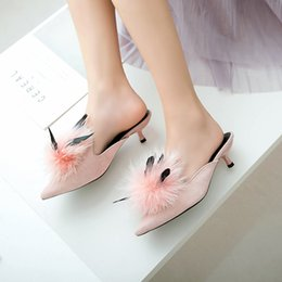$enCountryForm.capitalKeyWord NZ - Dress Shoes Casual tide autumn and winter new pointed fur pointed high-heeled cat with slim wild