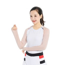 Wholesale Outdoor Cycling Running Women Shawl Cuff Gloves Golf Shawl Sleeves Ice Silk Sunscreen Sleeves Summer UV Protection Clothing