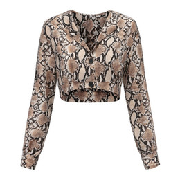 d16a4c1ff89e52 Sishion Snake Print Crop Top Top Women Haut Femme Plus Size 81810 Snake  Skin Top Shirt Womencrop Tops Femme Y19042801