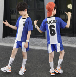 $enCountryForm.capitalKeyWord Australia - Boys Summer Dress New Football Clothing Fashion Sports Handsome Foreign Children Clothing Children Short-sleeved Football Clothing