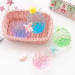 Squeezing Balls Free Australia - Free shipping Hand pinch extrusion Venting ball Creative New exotic Squeezing Vent toy Transparent pineapple Pinch toy