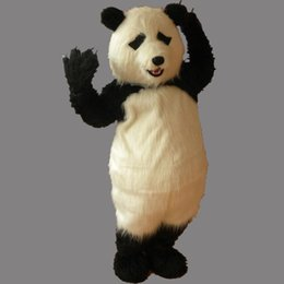 China Adult Size Cartoon Party Panda Costume xmas Cute Panda Bear Snowman Mascot Outfit Halloween Chirastmas Party Fancy Dress Custom-made suppliers
