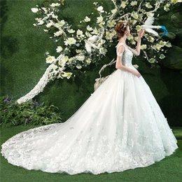$enCountryForm.capitalKeyWord Australia - Custom Wedding Dresses Crystal Brides Ball Gowns Backless Elegant High Quality Long Train Strapless Brides Dresses Chinese Factory Man Made