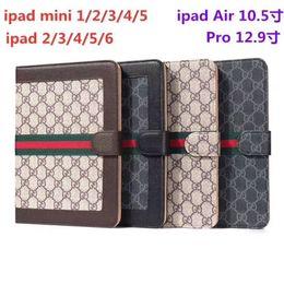 "$enCountryForm.capitalKeyWord Australia - Designer iPad Case Flip Wallet Monogram Printing Pu Leather Tablet PC Cases For Apple iPad Pro 12.9"" Air 2 3 Shockproof For iPad 5 6 Cover"