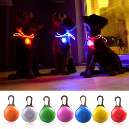 Night Glowing Plastic Australia - LED Dog Cat Collar Glowing Pendant Night Safety Pet Leads Necklace Luminous Bright Decoration Collars For Dogs