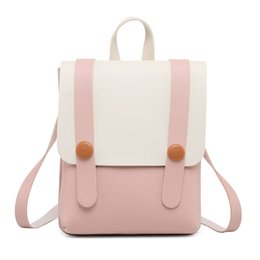 pockets back cell phone UK - Children's Backpack Women Small Shoulder Hand bags Female Back pack 2019 Simple Fashion Multi-Function Mini Bag for Little Girls
