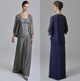 $enCountryForm.capitalKeyWord Australia - Modest A Line Floor Length Dark Blue Chiffon Mother Of The Bridal Dresses With Appliques Lace Chiffon Evening Long Women Dresses
