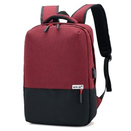 male laptop bags UK - High Capacity Laptop Computer Wear Resistant Breathable Backpack Simple Design Male Female Student School Bag Outdoor Traveling Bag