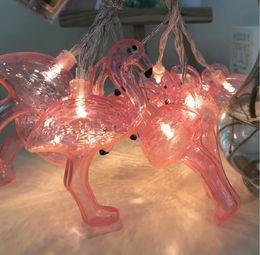 $enCountryForm.capitalKeyWord NZ - LED Light String Stylish Red Flamingo Shape Warm White Lamps Festive Props Atmosphere Decor Lighting Hot Sale