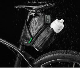 accessories water bag NZ - Bicycle Saddle Bag With Water Bottle Pocket WaterproofROCKBROS Bike MTB Cycling Rear Bags Seatpost Tail Bag Bike Accessories