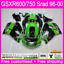 97 Srad Fairings UK - Body For SUZUKI SRAD GSXR 750 600 Green Black 1996 1997 1998 1999 2000 Kit 1HM.4 GSX-R750 GSXR-600 GSXR750 GSXR600 96 97 98 99 00 Fairing