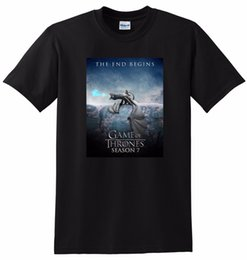 China * New * Game Of Thrones T Shirt Season 7 Poster Tee Small Medium Large Or Xl Mens 2019 Fashion Brand T Shirt O - Neck 100%cotton supplier game thrones season suppliers