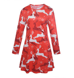 $enCountryForm.capitalKeyWord Australia - Hot Selling Wholesale Christmas boutique print clothing Christmas long-sleeved dress Christmas Day costumes Ladies Long Sleeve Dresses
