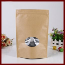 sweet 16 gifts Australia - 11*16+3 50pcs brown self kraft paper bags with window for gifts sweets and candy jewelry retail package paper