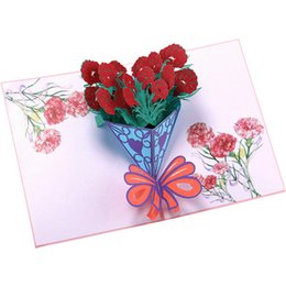 $enCountryForm.capitalKeyWord UK - Blessing Greeting Card Mother's Day 3D Carnation Bouquet Small Card Birthday Holiday Creative Gift European and American Explosion Models