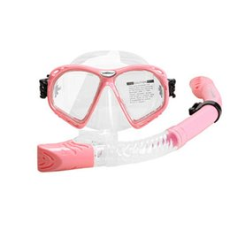 $enCountryForm.capitalKeyWord NZ - Men Women Snorkeling Diving Set Anti-mist Toughened Glass Equipment Anti-fog Full Dry Breathing Tube Underwater Goggles