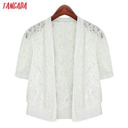 $enCountryForm.capitalKeyWord Australia - Tangada women lace cardigan black white korean style summer coat short sleeve top 2019 lady crop cardigan coat ANY01