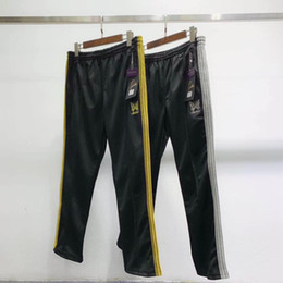 $enCountryForm.capitalKeyWord NZ - AWGE X NEEDLES ASAP ROCKY Pants Butterfly Embroidery Sweatpants Stripe Casual Trousers Men Women Couple Sports Pants Fashion HFLSKZ053