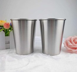 $enCountryForm.capitalKeyWord NZ - Silver Cups 12 Oz Pint Solid Color Cup Water Tumblers Stackable and Unbreakable Drinking Cups 350ML Stainless Steel Cup
