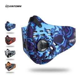 cycling pollution mask NZ - mask face mask XINTOWN Anti Pollution Ciclismo Cycling Masks Half Face Bike Bicycle With Filter Neoprene Activated Carbon Mesh Cloth