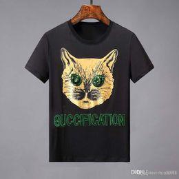 $enCountryForm.capitalKeyWord Australia - 2019 Summer Big Eyes Kitty Fashion Print Short Sleeve T-Shirt Fashion Trend Cotton Texture Comfortable Breathable 3