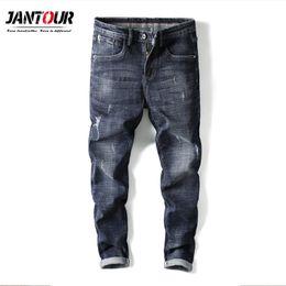 $enCountryForm.capitalKeyWord NZ - Jantour Fashion Brand 2019 New Elastic Thin cotton Men's Jeans Men's Korean Style Shoes mens ripped jeans man male