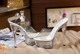 $enCountryForm.capitalKeyWord Australia - Women Shoes High Quality Female Model T Station Catwalk Sexy Crystal Transparent Shoes 15cm High Heels Waterproof Head Sandals Y19070203