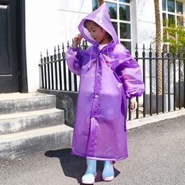 $enCountryForm.capitalKeyWord Australia - Thickened Non-disposable Children Raincoats EVA Environmental Rain Coat Travel Portable Kids Rainwear Poncho Wind Coat Multicolor