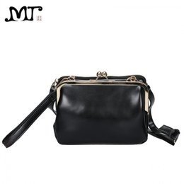 dd4d7fe5c9 MJ Women Leather Messenger Bag Female Retro Kiss Lock Shoulder Crossbody  Bags Chic PU Woman Clutch Bag Mini Leather Handbag