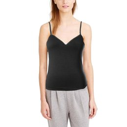 7debbdc65d woman wearing vests underwear 2019 - Women Modal Solid Colour Tank Top  Adjustable Strap Built In