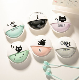 Mp4 cartoon online shopping - Cute Cat Cartoon Earphone mm In ear Stereo With Mic Earphones Case For Phone Girls Kid Child Student For MP3 MP4 Gift
