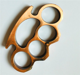 Wholesale Thick Brass Knuckles Knuckle Duster Gold Silver Black Free Shipping