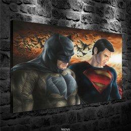 Dc Superman Figure Australia - Dc Comics Superman Batman,HD Canvas Printing New Home Decoration Art Painting (Unframed Framed)