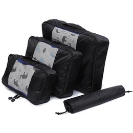 $enCountryForm.capitalKeyWord Australia - QIUYIN Nylon Packing Cube Travel Bag Unisex Clothing Sorting System Durable 3 Pieces Set Large Capacity Of Bags Organize