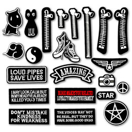Dog Zipper Australia - Amazing Star Zipper Cat Dog Shoe DIY Embroidered Iron On Patches for Clothing Clothes Stickers Sew On Badges Patch