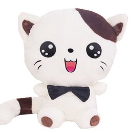China plush cat toy with an amazing big round face having many lively facial expression mading it looks like a real cat being good suppliers