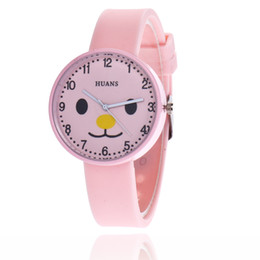 Wholesale Lovely Cute Cat Watches Women Girls Wristwatch Jelly Color Silicone Bracelet Watch For Women Quartz watch Cartoon