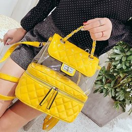 Styles Backpacks Australia - School Backpacks Style Preppy Backpack 2019 Fashion New Cute Transparent Backpacks For Teen High Quality Pu Leather Shoulder Bag