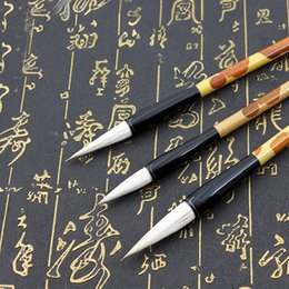 Chinese Brush Painting Australia - Woolen Hairs Chinese Calligraphy Brushes Pen Artist Painting Writing Drawing Brush Fit For Student School Stationery 3Pcs Set