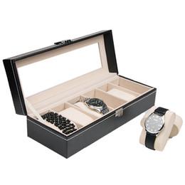 $enCountryForm.capitalKeyWord Australia - 6 Grids PU Leather Watch Box Case Jewelry Display Organizer Box Luxury Wrist Watch Storage Holder