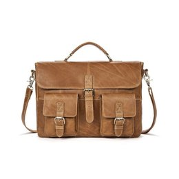 Messenger Bags For Men Leather UK - Brand Messenger Bag Genuine Leather Male Men Shoulder Bag man briefcases laptop Men's Crossbody bags for Men Travel